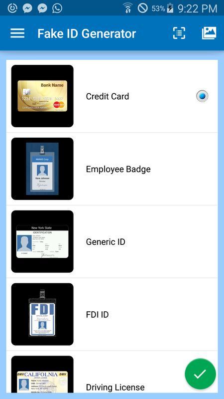 fake credit card generator apk