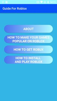 Guide and Tips for Roblox poster