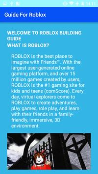 Guide and Tips for Roblox apk screenshot
