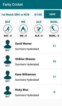 Fantasy Cricket League poster