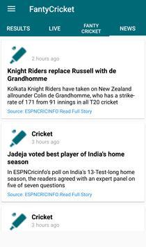 Fantasy Cricket League apk screenshot