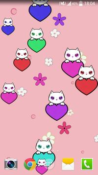 Lily Kitty Heart LiveWallpaper poster