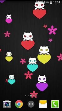 Lily Kitty Heart LiveWallpaper screenshot 3