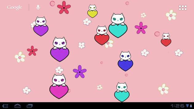 Lily Kitty Heart LiveWallpaper screenshot 5