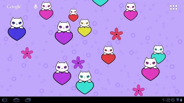 Lily Kitty Heart LiveWallpaper screenshot 6
