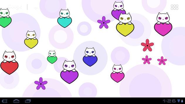 Lily Kitty Heart LiveWallpaper screenshot 7