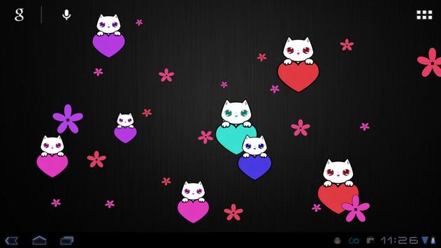 Lily Kitty Heart LiveWallpaper screenshot 8
