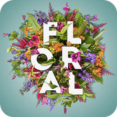 Floral Typography Design icon