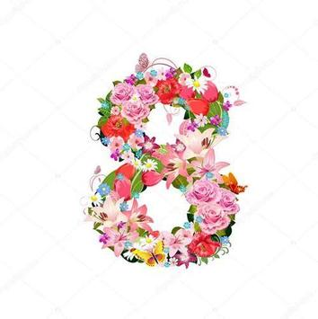 Floral Typography Design poster