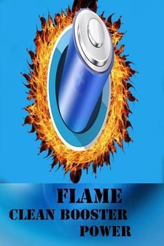 Flame Clean Phone Power poster