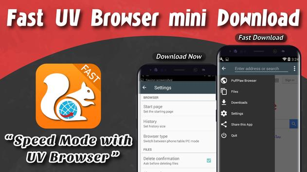 Fast UV Browser mini Download poster