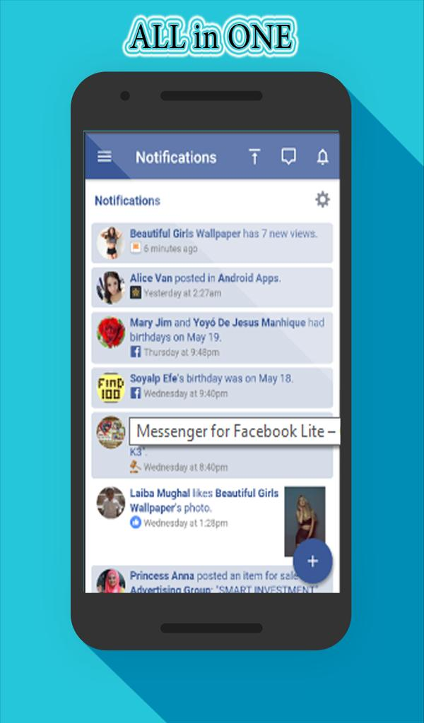 Quick Messenger for Lite Mini Facebook 2018 for Android