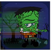 Amazing spongezombie jungle icon
