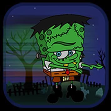 Amazing spongezombie jungle poster
