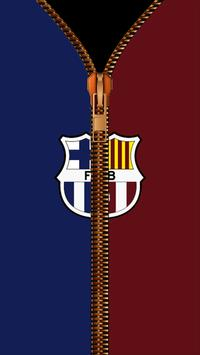 FC Barcelona Zipper LockScreen poster