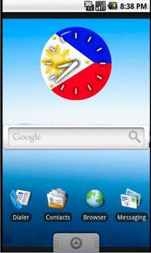 Pinoy Clock Widget free screenshot 1