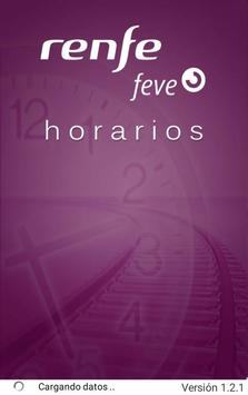 Horarios RENFE FEVE poster