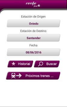 Horarios RENFE FEVE screenshot 1