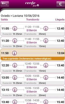 Horarios RENFE FEVE screenshot 2