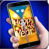 New Year Zipper Lock icon