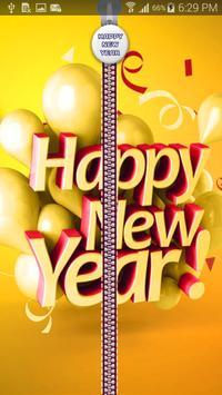 New Year Zipper Lock apk screenshot