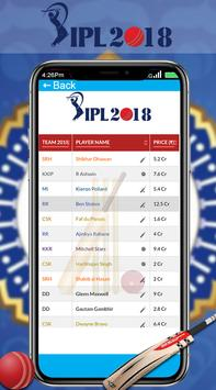 Schedule For IPL 2018 apk screenshot
