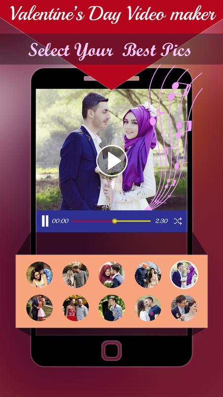 valentine day slideshow video maker 2018