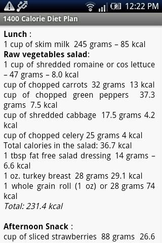 1400 Calorie Diet Plan For Android Apk Download