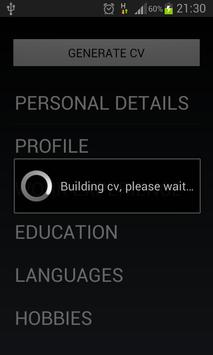 Curriculum Vitae apk screenshot
