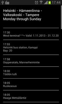 Bus Timetable (FINLAND ONLY) screenshot 3