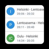 Train information display icon