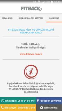 FITBACK İdeal Kilo Hesaplama screenshot 5