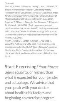 Fitness Age Calculator screenshot 11