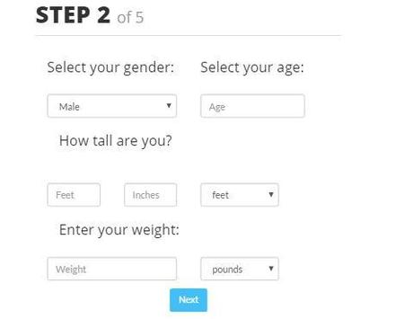 Fitness Age Calculator screenshot 1