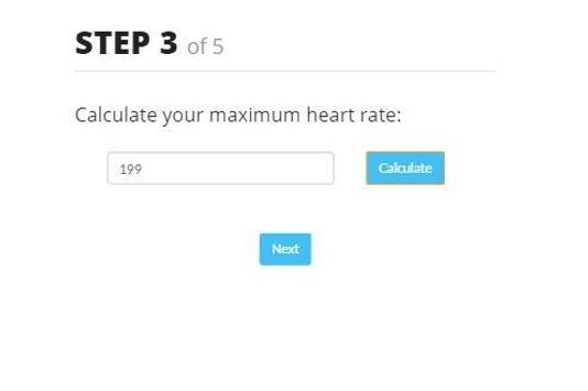 Fitness Age Calculator screenshot 2