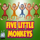 Five Little Monkeys - Nursery video app for kids icon