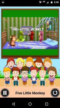 Five Little Monkeys - Nursery video app for kids poster