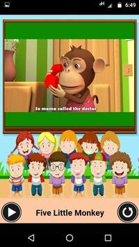 Five Little Monkeys - Nursery video app for kids screenshot 1