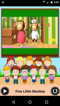 Five Little Monkeys - Nursery video app for kids screenshot 2