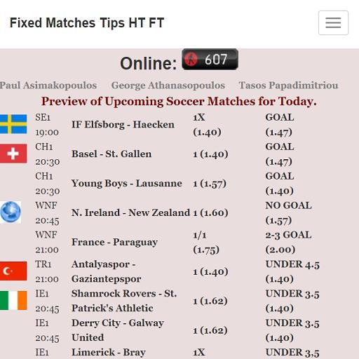 Fixed Matches Tips for Android - APK Download