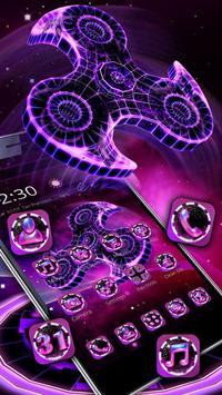 Fidget Spinner Neon Theme screenshot 2