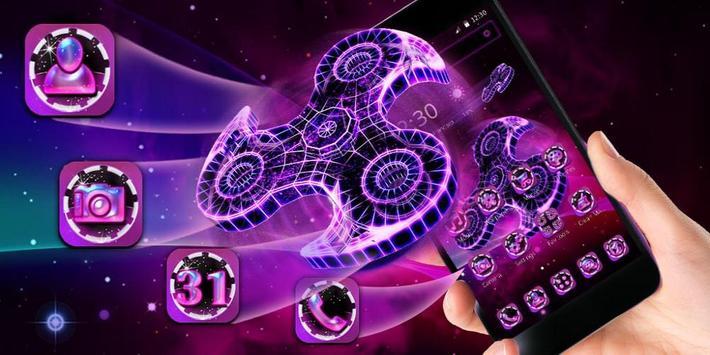 Fidget Spinner Neon Theme screenshot 3