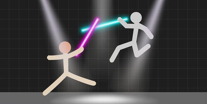 Stickman Warriors - Lightsaber War screenshot 1