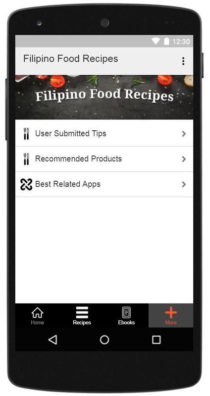 Filipino food recipes descarga apk gratis comer y beber aplicacin filipino food recipes captura de pantalla de la apk forumfinder Choice Image