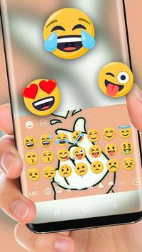 finger love Keyboard theme screenshot 1