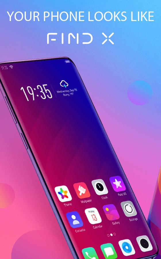 Find X launcher Free: Stylish theme for Oppo FindX for