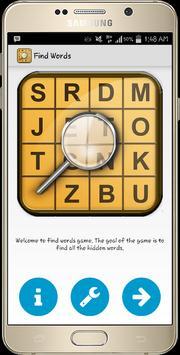 Find Words poster