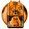 Flaming Wolf Keyboard Theme icon