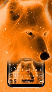 Flaming Wolf Keyboard Theme poster