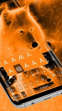 Flaming Wolf Keyboard Theme screenshot 1